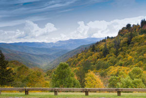 Breathtaking mountain views from Newfound Gap Road.