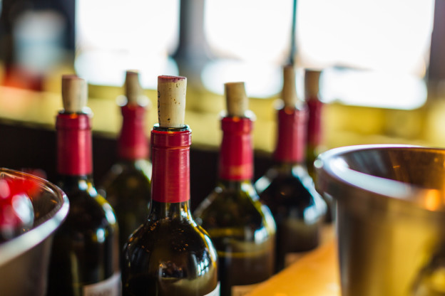 bottles of wine at Pigeon Forge winery