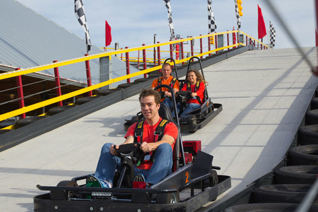 Go Karts Being Raced Down Hill X on Nascar Go Karts In Pigeon Forge Tn